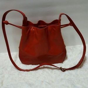 Furla Red Bucket Bag, Made In Italy